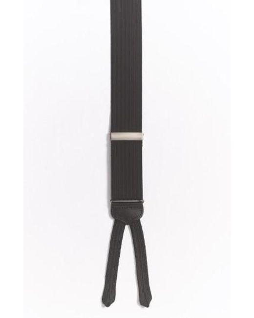 Trafalgar - Black 'formal Regal' Suspenders for Men - Lyst