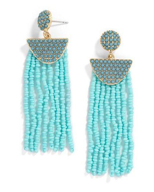 BaubleBar | Blue Beaded Deco Drop Earrings | Lyst