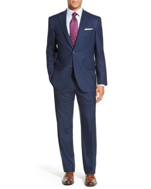 David Donahue - Blue Ryan Classic Fit Solid Wool Suit for Men - Lyst