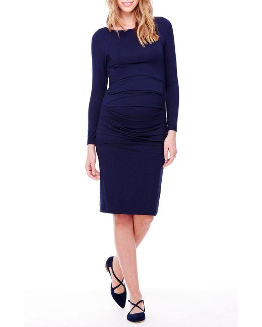 Ingrid & Isabel - Multicolor Ingrid & Isabel Shirred Maternity Dress - Lyst