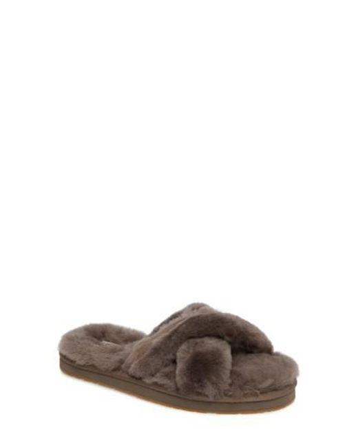 ugg shearling flip flops