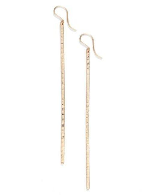 Nashelle   Metallic Pure Bar Drop Earrings   Lyst