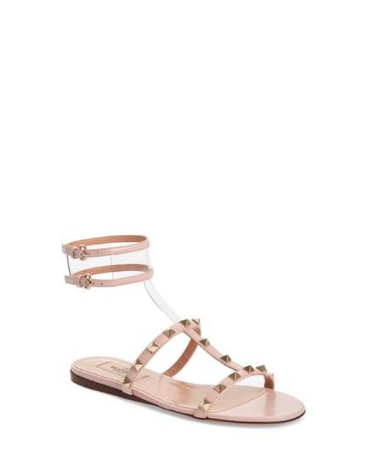 Valentino Garavani Moonwalk Rockstud sandals - Metallic Valentino Clearance Pay With Visa Amazing Price Sale Online RAF0hsDVgQ