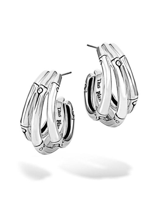 John Hardy - Metallic Bamboo Small Hoop Earrings - Lyst
