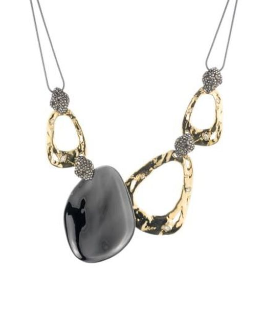 Alexis Bittar | Metallic Elements Bib Necklace | Lyst