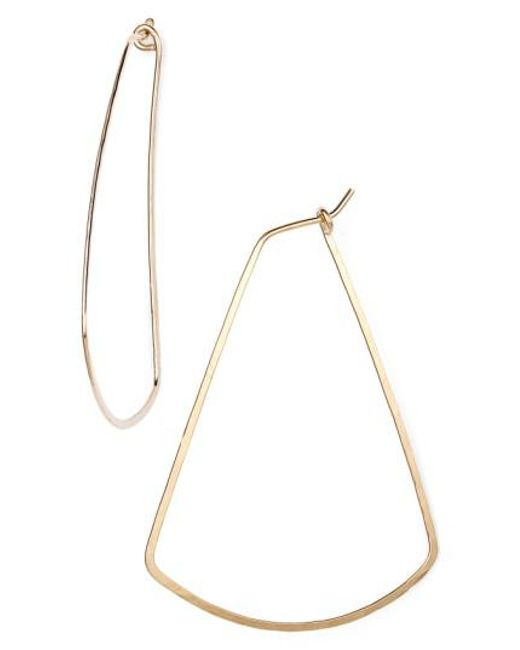 Nashelle - Metallic Ija Triangle Hoop Earrings - Lyst