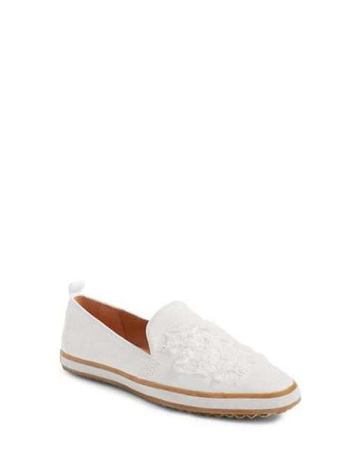 Bill Blass | White Sutton Loafer Flat | Lyst