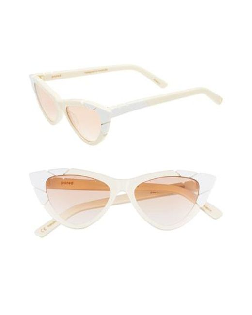 63ecd50c56 Pared Eyewear - Multicolor Picollo   Grande 50mm Cat Eye Sunglasses - Iv   Wht Lam