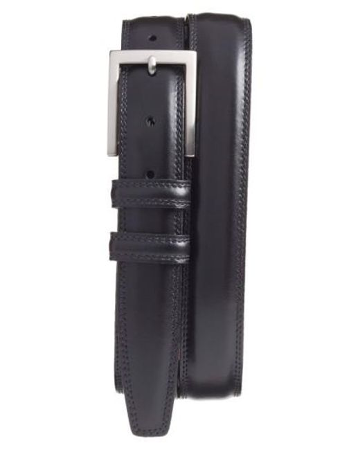 Torino Leather Company - Black Aniline Leather Belt for Men - Lyst