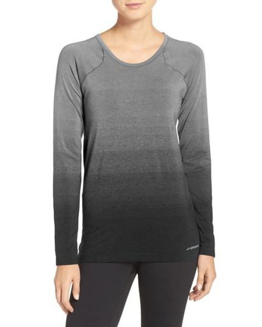 Brooks | Gray Drilayer Top | Lyst