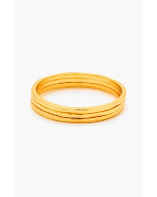 Gorjana   Metallic 'g Ring' Rings (set Of 3)   Lyst