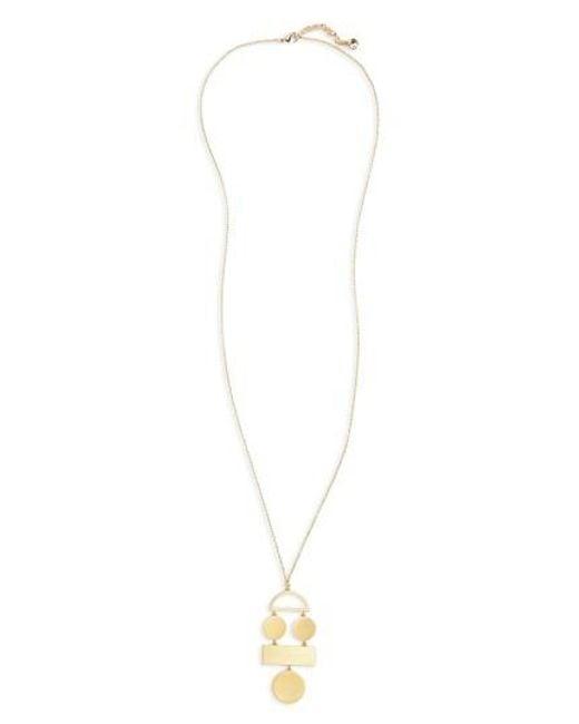 BaubleBar | Metallic Picasso Pendant Necklace | Lyst