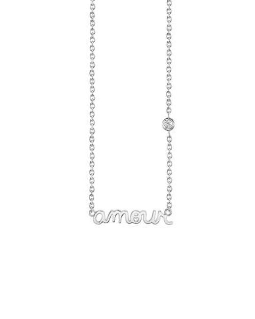 Shy By Sydney Evan - Metallic Amour Pendant Necklace - Lyst