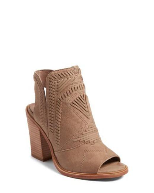 Vince Camuto - Brown Karinta Block Heel Ankle Boot - Lyst