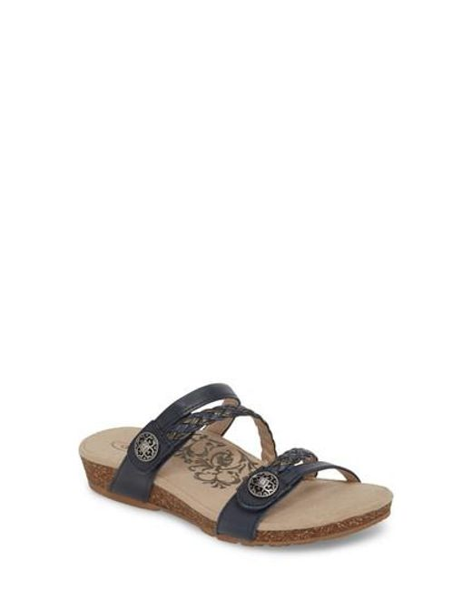 Aetrex Women's 'Sharon' T-Strap Sandal Rb8Jx99m