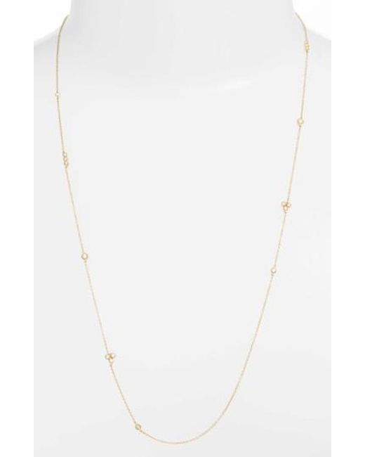 Bony Levy | Metallic Harlowe Long Diamond Station Necklace (nordstrom Exclusive) | Lyst