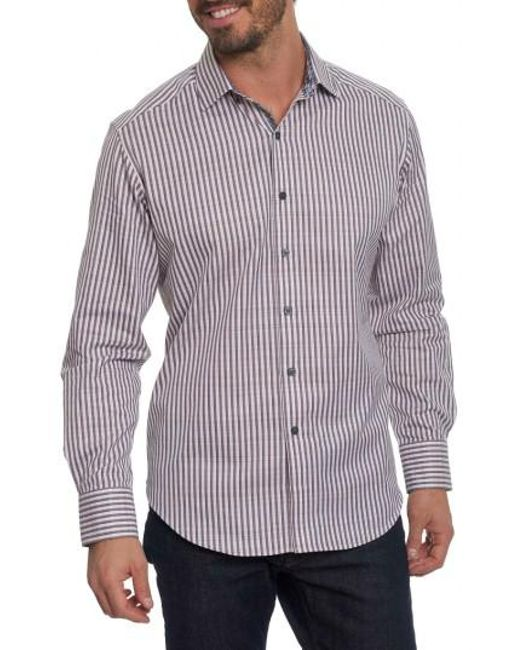 Robert Graham   Black Marion Classic Fit Stripe Shirt for Men   Lyst