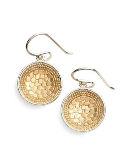 Anna Beck | Metallic Dish Drop Earrings | Lyst