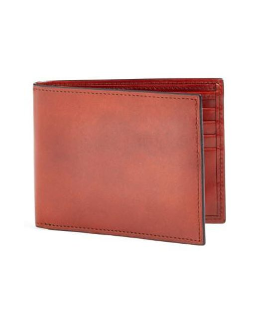 Bosca - Brown 'old Leather' Deluxe Wallet for Men - Lyst