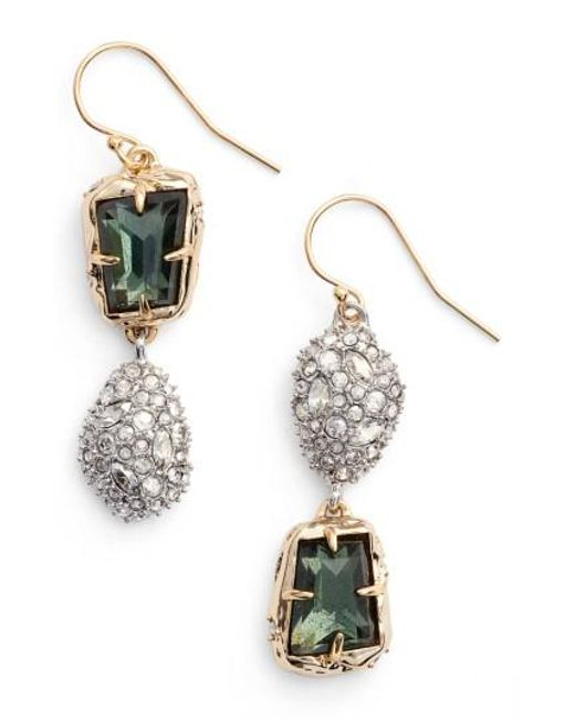 Alexis Bittar | Metallic Elements Crystal Drop Earrings | Lyst