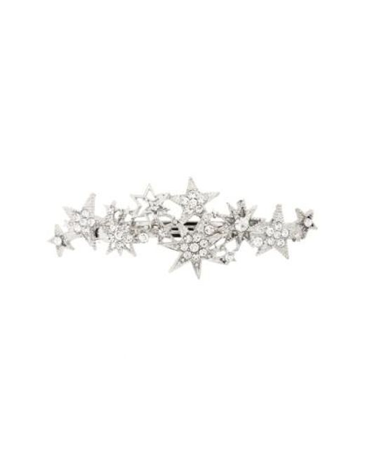 Cara | Metallic Crystal Star Barrette | Lyst