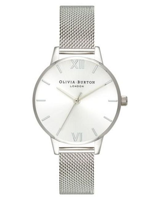 Olivia Burton - Metallic Sunray Mesh Strap Watch - Lyst