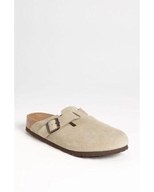 Birkenstock - Brown 'boston' Soft Footbed Clog - Lyst