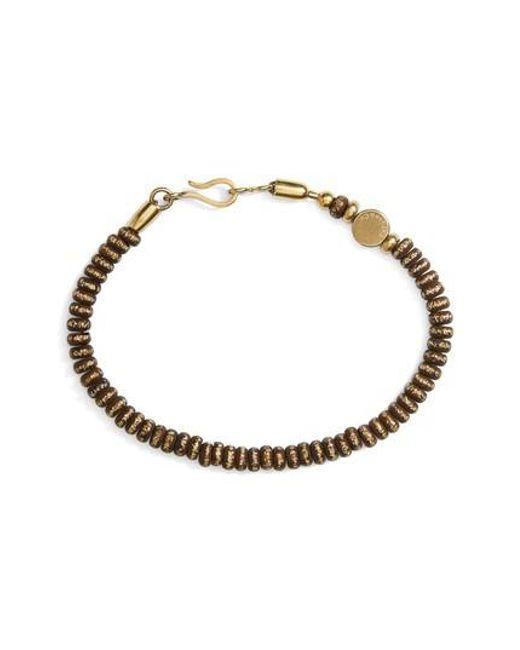 Caputo & Co.   Metallic Rondelle Brass Bead Bracelet   Lyst