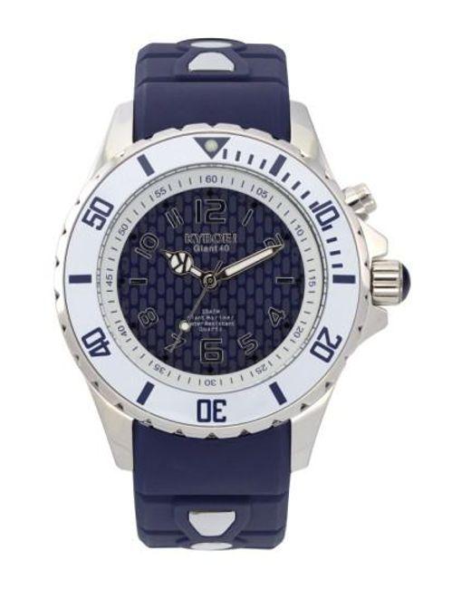 Kyboe   Metallic ! 'marine Voyager' Silicone Strap Watch for Men   Lyst
