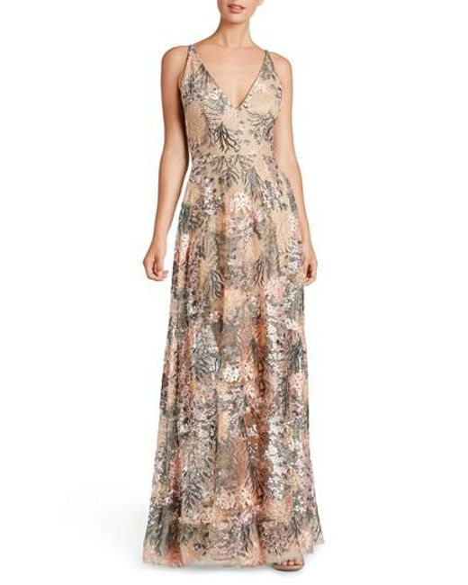 Dress the Population - Pink Sidney Embroidered Fit & Flare Gown - Lyst