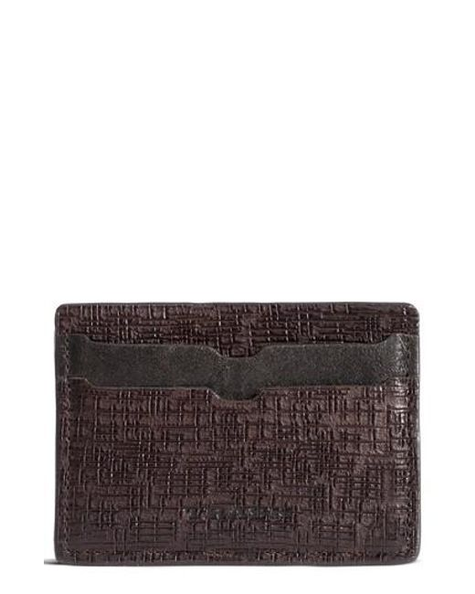 Trask | Brown Ryker Card Case for Men | Lyst