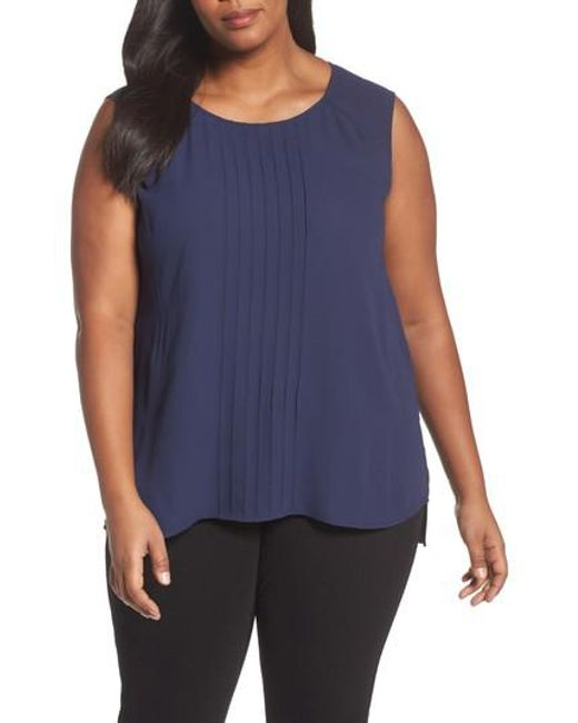 Sejour | Blue Pintuck Tank | Lyst