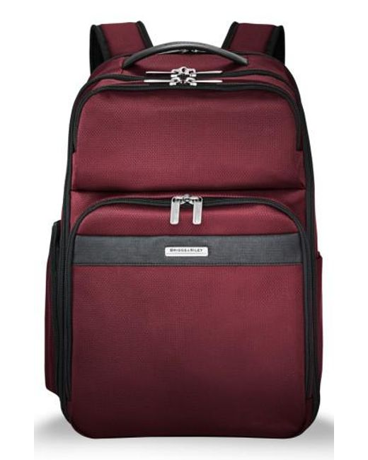 Briggs & Riley - Red Transcend 400 Cargo Backpack - Lyst