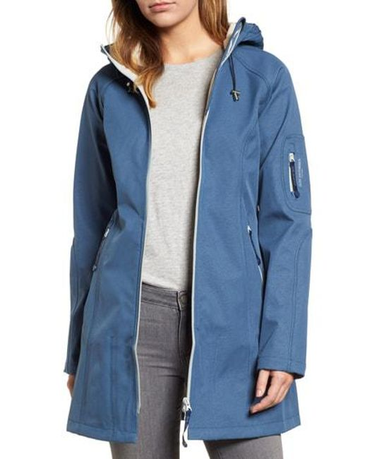 Ilse Jacobsen - Blue Regular Fit Hooded Raincoat - Lyst