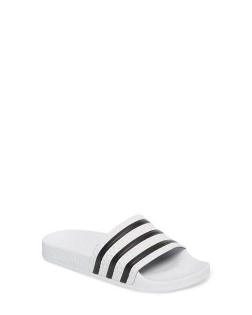 Adidas - Multicolor  adilette  Slide Sandal for Men - Lyst ab938820d
