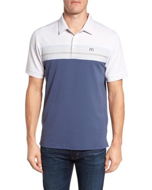 Travis Mathew | Blue Nantz Pique Polo for Men | Lyst