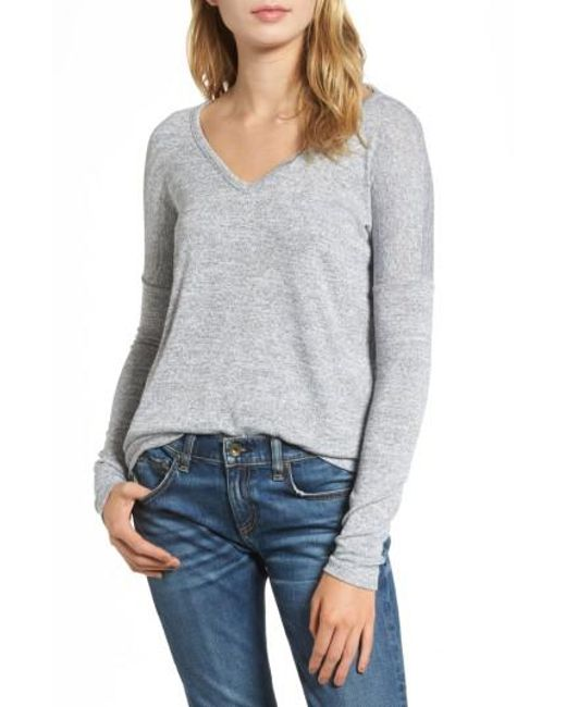 Rag & Bone | Gray Long Sleeve Tee | Lyst