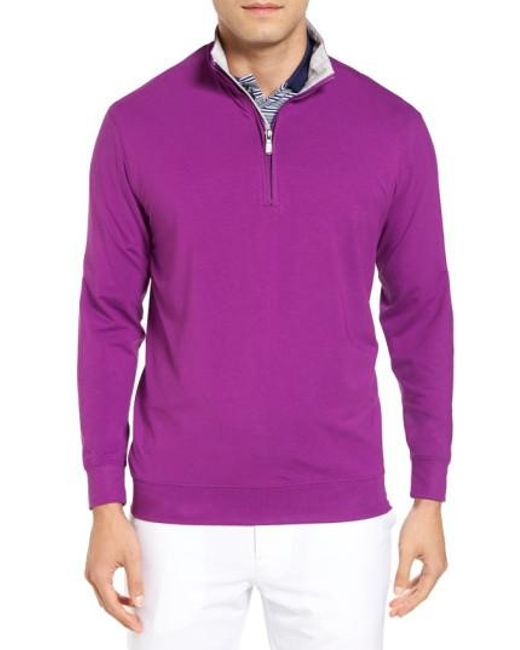 Bobby Jones | Purple Pto Liquid Stretch Quarter Zip Pullover for Men | Lyst