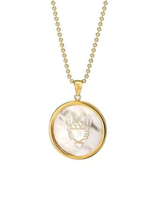 Asha - Metallic Zodiac Mother-of-pearl Pendant Necklace - Lyst
