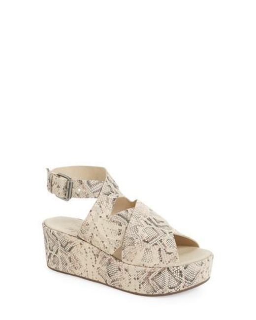 Matisse - Natural Runway Wedge Sandal - Lyst