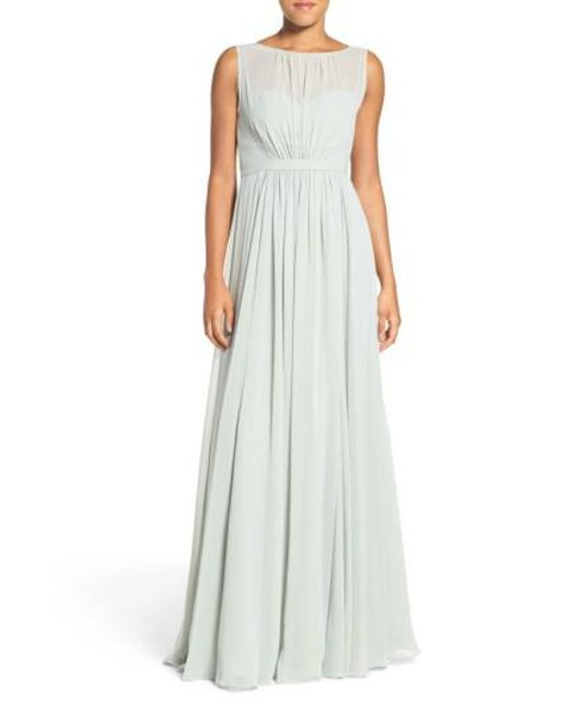 Jenny Yoo | Multicolor 'Vivienne' Pleated Chiffon Gown | Lyst