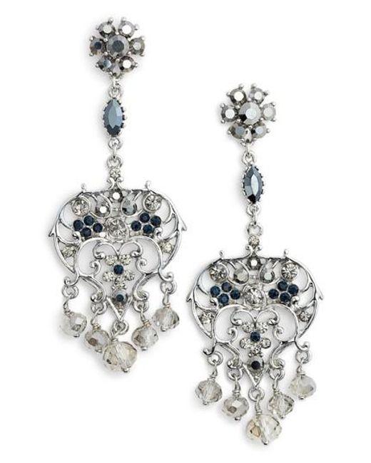 Lyst badgley mischka vintage chandelier earrings in metallic badgley mischka metallic vintage chandelier earrings lyst mozeypictures Images