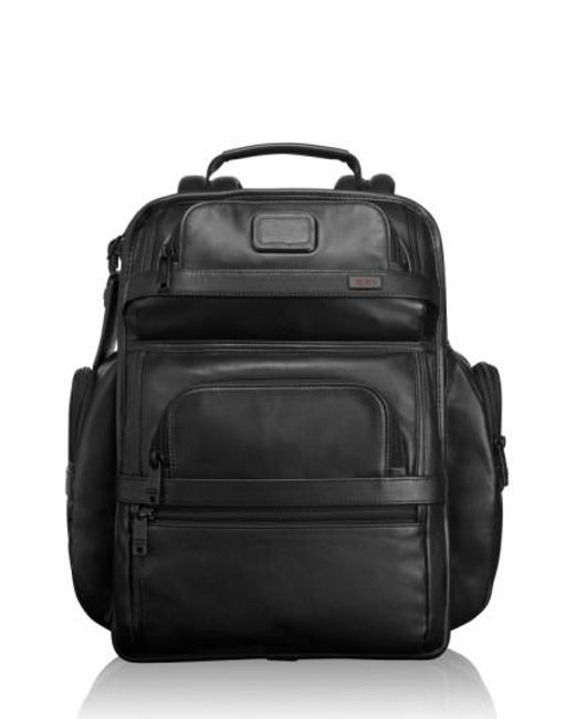 Tumi   Black 'alpha 2' T-pass Leather Brief Pack   Lyst