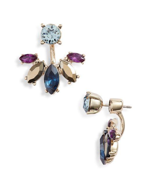 Marchesa - Metallic Stone Drop-back Earrings - Lyst