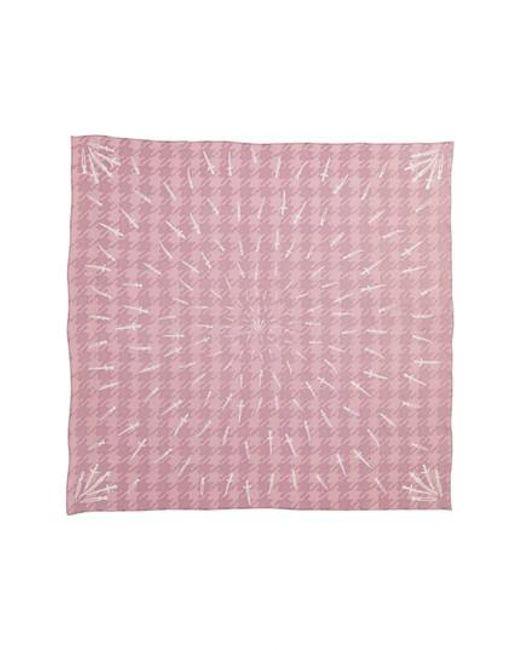 Rag & Bone - Pink Dagger Silk Scarf - Lyst