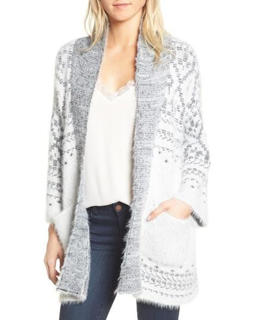 Lyst - Cupcakes and cashmere Raveena Fair Isle Cardigan in White