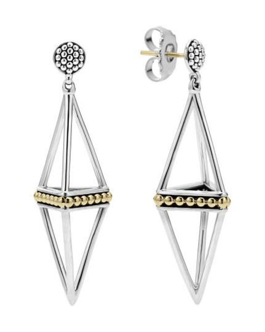 Lagos - Metallic 'ksl' Pyramid Drop Earrings - Lyst