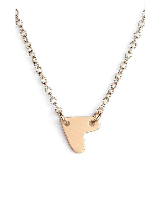 Nashelle - Metallic Mini Heart Pendant Choker - Lyst
