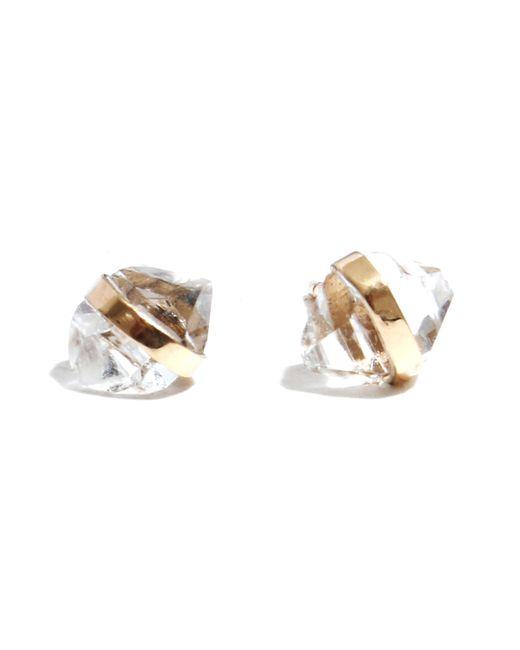 Melissa Joy Manning - Metallic Stone Stud Earrings - Lyst
