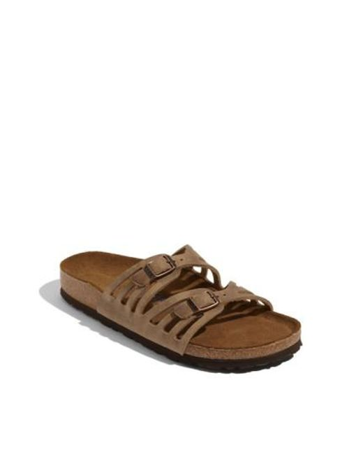Birkenstock | Brown Granada Soft Footbed Oiled Leather Sandal | Lyst